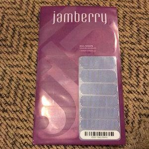 Jamberry navy skinny nail wraps